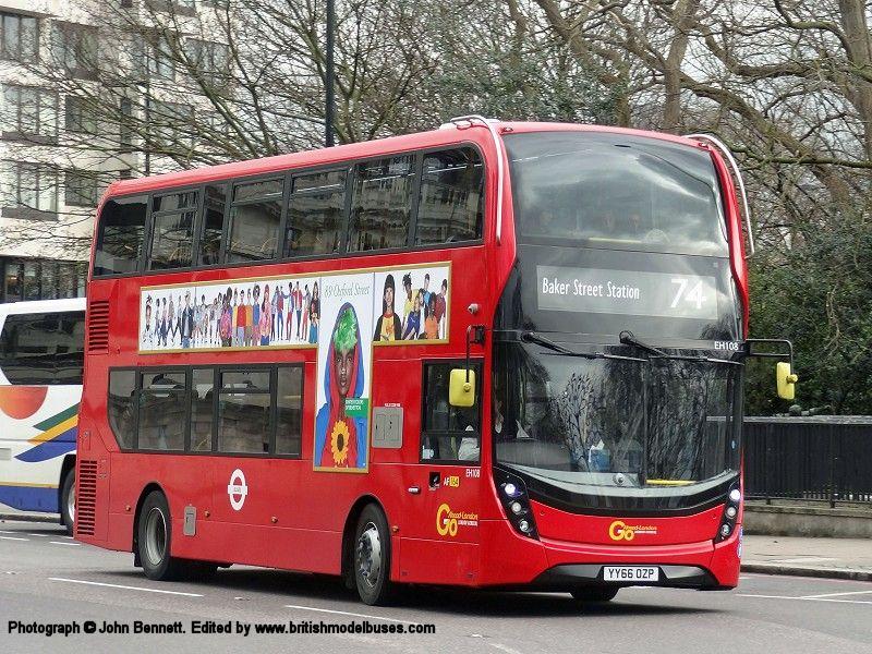 E400H YY66 OZP NORTHCORD UKBUS6501 ADL Enviro400 Go Ahead London EH108